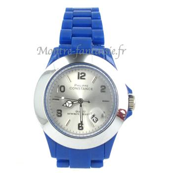 ARLINGTON montre plastique étanche Bleue