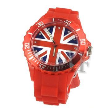 ITHAQUE montre silicone étanche rouge British