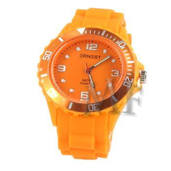 ITHAQUE montre silicone étanche orange