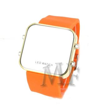 KLEE Montre silicone Led Orange