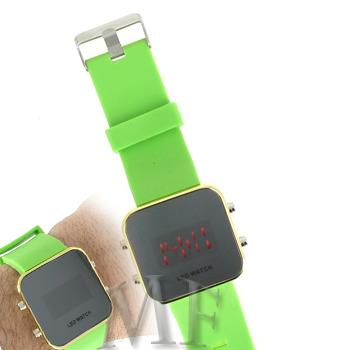 KLEE Montre silicone Led Vert pomme