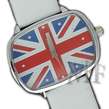 British montre drapeau blanche