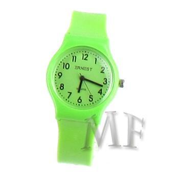 CAPRICE montre sport bracelet silicone verte