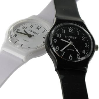 Montre silicone  EASYTIME noire