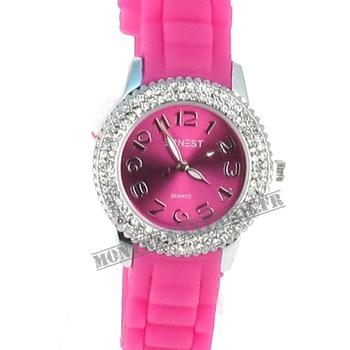 Montre femme Esther silicone rose