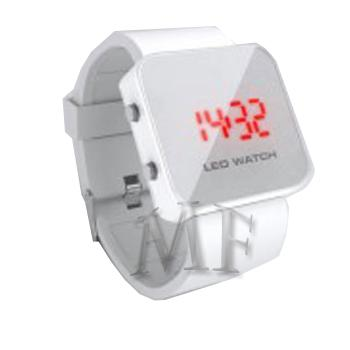 KLEE Montre silicone Led Blanche