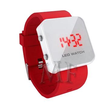 KLEE Montre silicone Led Rouge