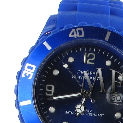 Montre sport Constance bleu silicone