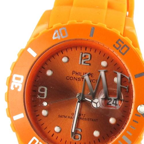 Montre sport Constance orange silicone