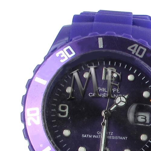 Montre sport Constance Purple silicone