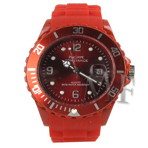 Montre sport Constance rouge silicone