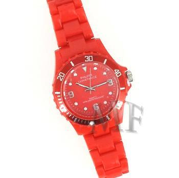Constance II montre bracelet pvc étanche Rouge