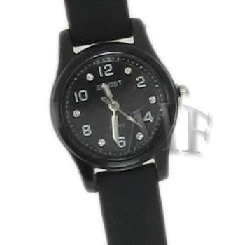 Scarlett montre bracelet silicone noire