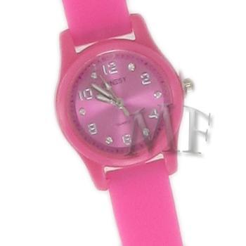 Scarlett montre bracelet silicone rose