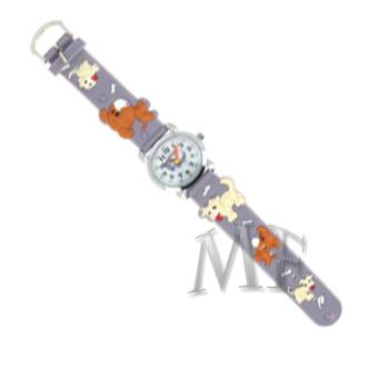 DOGGY Montre enfant bracelet silicone anthracite