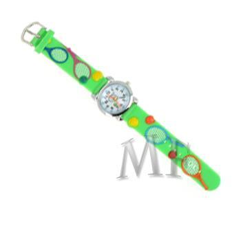 TENNIS Montre enfant bracelet silicone vert