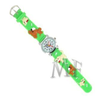 TOUTOU Montre enfant bracelet silicone vert