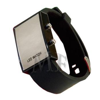 SLIM montre bracelet Silicone Noire